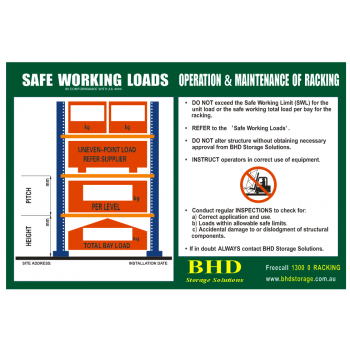 Load Safety Sign Pallet Racking