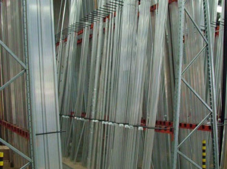 vertical steel plate goods shelf