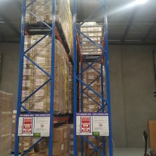 Narrow Aisle Pallet Racking is used for storing pallets on pallet racking beams in high density warehouses around Melbourne, Sydney, Brisbane and Australia.
