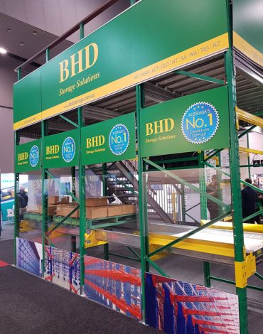 BHD brand board in exhibition