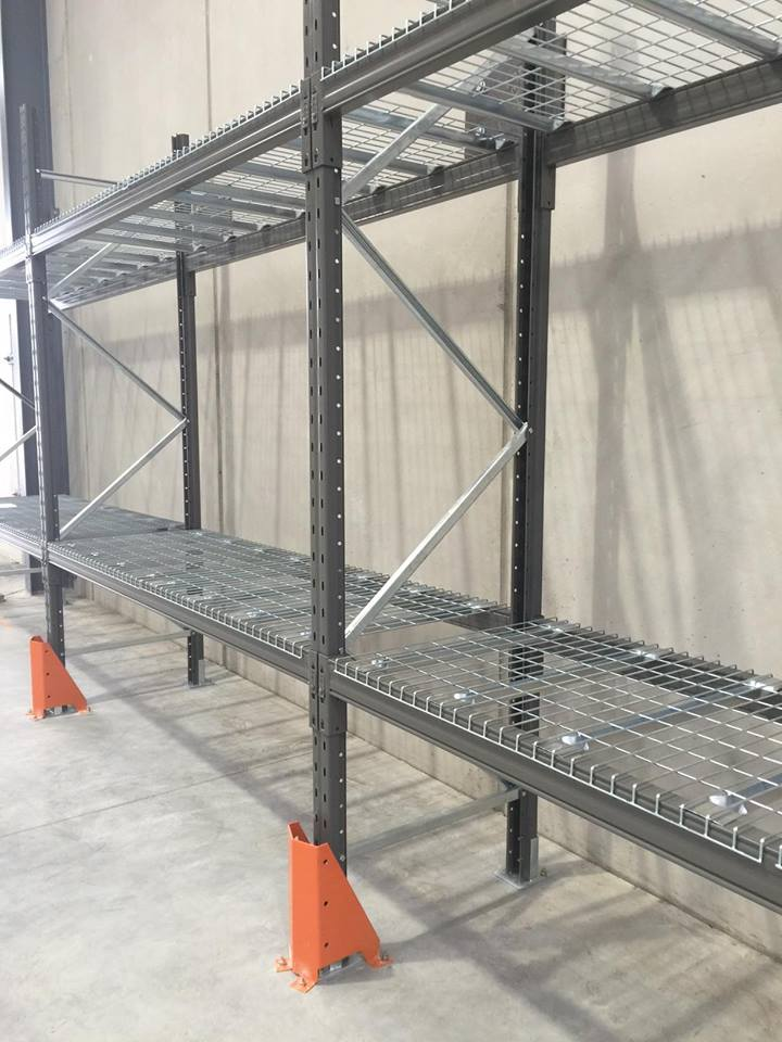 two layers steel structure goods shelf