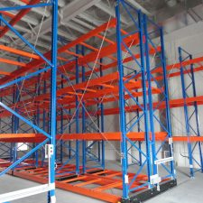 Mobile Pallet and Cantilever Racking is used for storing long irregular product and pallets on pallet racking beams in high density warehouses around Melbourne, Sydney, Brisbane and Australia.
