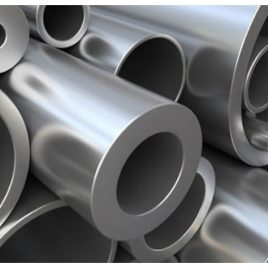 A photo of aluminium pipe and steel pipe that can be stored on BHD Cantilever Racking as well as BHD Vertical A Frame Racking