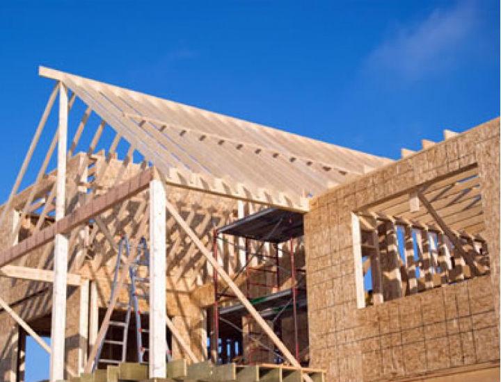 Building frame under construction