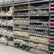 Multi layer goods shelf with pipe