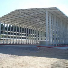 warehouse frame with steel pillar