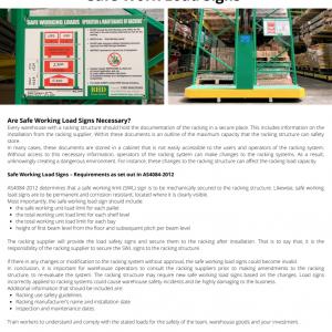 BHD Safe Work Load Sign